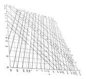 geïsoleerdr het diagramconcept van krommengegevens, Royalty-vrije Stock Afbeelding