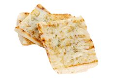 Geïsoleerdr knoflookbrood met kaas royalty-vrije stock foto
