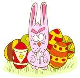 Geïsoleerdr konijn stock illustratie