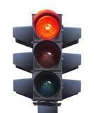 Geïsoleerdr verkeerslicht stock afbeelding