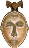 Geïsoleerds Afrikaans masker Stock Fotografie