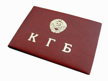 Geïsoleerds kgb- document Royalty-vrije Stock Foto
