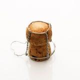 Geïsoleerdt cork van Champagne stock foto
