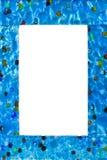 Geïsoleerdt frame van glas royalty-vrije stock afbeelding