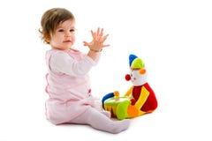 Geïsoleerdt spelen van de baby Stock Fotografie