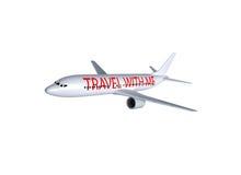 Geïsoleerdt vliegtuig vector illustratie