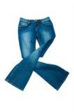 Geïsoleerdw paar jeans Royalty-vrije Stock Afbeelding