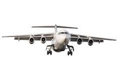 Geïsoleerdw vliegtuig Stock Foto's