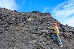 Geólogo de carvão imagens de stock