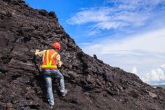 Geólogo de carvão fotografia de stock