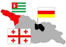 Geórgia, Abakhasia, Soutn Ossetia Imagens de Stock