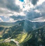 geórgia Vista do vale de uma altura Fotografia de Stock Royalty Free