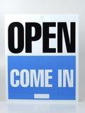 Geöffnet lizenzfreies stockfoto