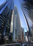 Geöffnet eben, nicht schon komplett, Salesforce-Turm, San Francisco, 2 lizenzfreies stockfoto