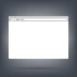 Geöffnete Browser Window Schablone auf dunklem Hintergrund Stockbild