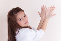 Geöffnete Hand der Arztvertretung Lizenzfreies Stockbild