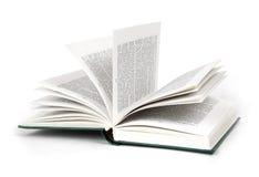 Geöffnete harte Abdeckung des Buches Stockfotografie