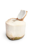 Geöffnete junge Kokosnuss Stockfoto