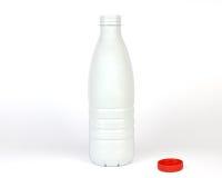 Geöffnete Plastikflasche Stockfoto