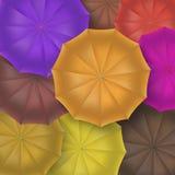 Geöffnete Regenschirme Draufsicht, Nahaufnahme Stockfoto
