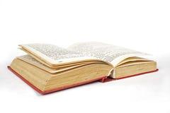 Geöffnete rote harte Abdeckung des Buches Lizenzfreie Stockfotografie