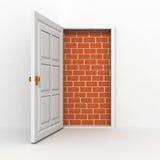 Geöffnete Tür nirgendwo, kein Auswegkonzept Lizenzfreie Stockfotos