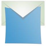 Geöffnete Umschlag-Abbildung stockfotografie