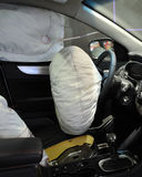 Geöffneter Airbag Stockfotografie