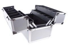 Geöffneter Aluminiumfall Lizenzfreies Stockfoto