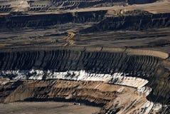 Geöffneter Bergbau der Braunkohle Stockbild
