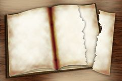 Geöffneter Copybook Stockfoto