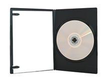 Geöffneter dvd Kasten Stockbild