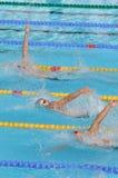 Geöffneter EEF 2010, rückseitige Schleichenschwimmer Stockfoto