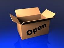 Geöffneter Kasten mit Stempel Lizenzfreie Stockbilder