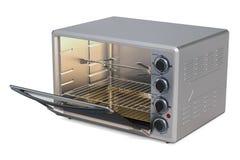 Geöffneter Konvektions-Toaster-Ofen mit Rotisserie und Grill, 3D ren lizenzfreie abbildung