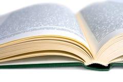 Geöffnetes Buch der Abdeckung Stockfotografie