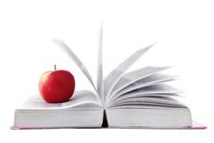 Geöffnetes Buch lokalisiert auf Weiß Stockfotografie