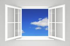 offenes fenster gegen eine wei e wand und den bew lkten himmel vektor stockfotos bild 33628343. Black Bedroom Furniture Sets. Home Design Ideas