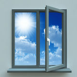 Geöffnetes Fenster lizenzfreie abbildung