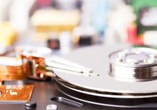 Geöffnetes Festplattenlaufwerk lizenzfreies stockfoto