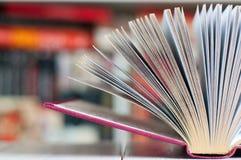 Geöffnetes goldenes Buch Lizenzfreies Stockfoto