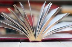 Geöffnetes goldenes Buch Lizenzfreie Stockfotografie