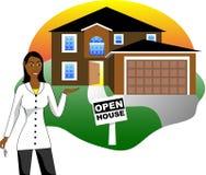 Geöffnetes Haus mit Mittel vektor abbildung