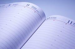Geöffnetes Notizbuch Stockbilder