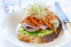Geöffnetes Sandwich Lizenzfreie Stockfotografie