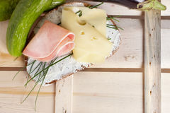 Geöffnetes Sandwich Stockfotos