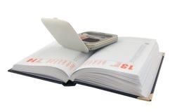Geöffnetes Tagebuch- und Verfassungsset Lizenzfreie Stockfotos