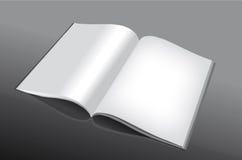 Geöffnetes und leeres Buch stockbild