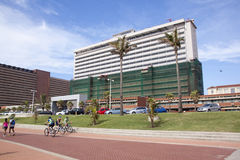 Geüberholtes Addington-Krankenhaus auf Durbans goldener Meile Beachfron Stockfotografie
