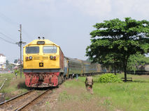 GE diesel- lokomotiv NO4547 Royaltyfri Foto